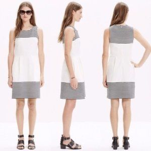 Madewell | Verse Dress White with Black Stripes L